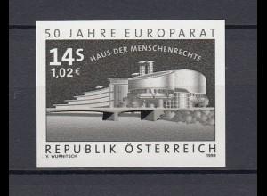 EUROPA CEPT MITLÄUFER Österreich Schwarzdruck 1999