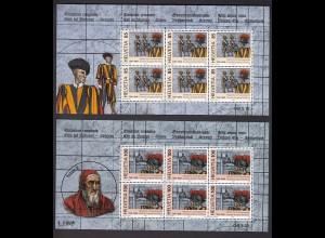 SCHWEIZ MiNr. 1945/1946 KB-Satz - 500 J. Schweizergarde - 2005 pfr/**