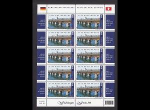 SCHWEIZ MiNr. 2068 Alte Rheinbrücke Bad Säckingen (2008) Kleinbogen postfr./**