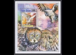GUINEA-BISSAU Eulen Owls Vögel Birds (2013) postfrisch/** (MNH)
