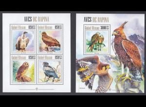 GUINEA-BISSAU Vögel Birds Set (2013) postfrisch/** (MNH)