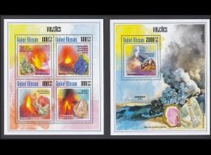 GUINEA-BISSAU Vulkane Volcanos Set (2013) postfrisch/** (MNH)