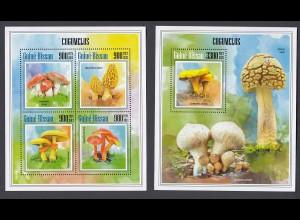 GUINEA-BISSAU Pilze Mushrooms Set (2013) postfrisch/** (MNH)