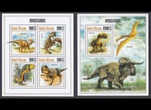 GUINEA-BISSAU Dinosaurier Dinosaurs Set (2013) postfrisch/** (MNH)