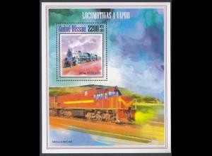 GUINEA-BISSAU Lokomotiven Locomotives (2013) postfrisch/** (MNH)