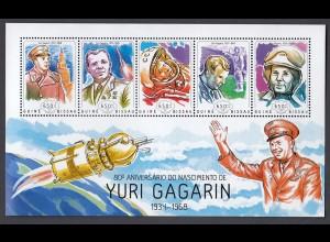 GUINEA-BISSAU Yuri Gagarin (2014) postfrisch/** (MNH)
