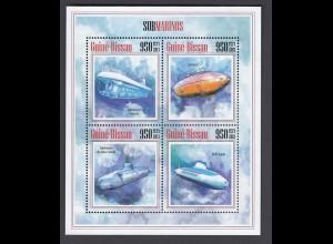 GUINEA-BISSAU U-Boote Submarines (2013) postfrisch/** (MNH)