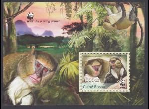 GUINEA-BISSAU WWF Tiere Affen (2013) postfrisch/** (MNH)