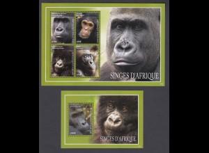 TOGO Affen Apes Set (2014) postfrisch/** (MNH)
