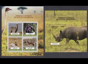 TOGO Tiere Animals (2014) postfrisch/** (MNH)