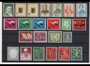 BUND Jahrgang 1955 komplett postfrisch/** - € 194