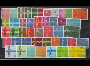 EUROPA CEPT Jahrgang 1971 komplett postfrisch/** (MNH)