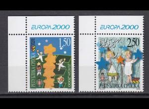 EUROPA CEPT BosnHerz (Serbische Rep.) 2000 pfr./** (MNH) Eckrand o.l. - € 120