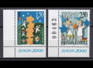 EUROPA CEPT BosnHerz (Serbische Rep.) 2000 pfr./** (MNH) Eckrand u.l. - € 120