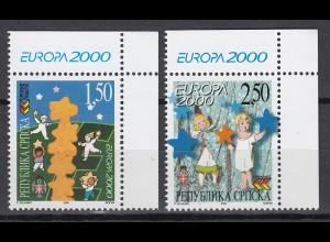 EUROPA CEPT BosnHerz (Serbische Rep.) 2000 pfr./** (MNH) Eckrand o.r. - € 120