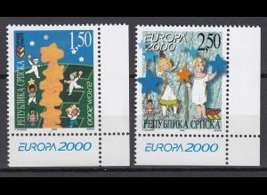 EUROPA CEPT BosnHerz (Serbische Rep.) 2000 pfr./** (MNH) Eckrand u.r. - € 120