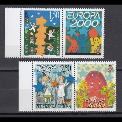 EUROPA CEPT BosnHerz.(Serbische Rep.) 2000 mit Zierfeld postfr./** (MNH) - € 120