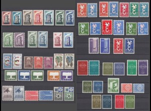 EUROPA CEPT Jahrgänge 1956-1959 postfrisch/** (MNH) komplett - € 560..
