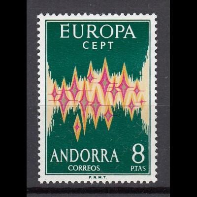 EUROPA CEPT Andorra (spanisch) 1972 postfr./** (MNH)