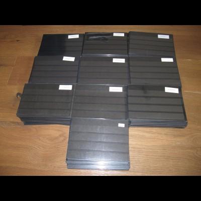 DIN A 5 Steckkarten schwarz m. Schutzhülle 4 Streifen - ca. 500 Stück gebraucht