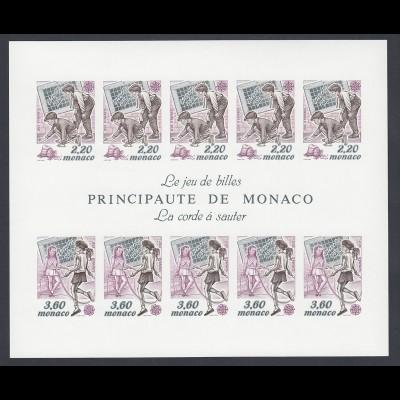 EUROPA CEPT Monaco Block 1989 postfrisch/** (MNH) UNGEZÄHNT/IMPERFORATED