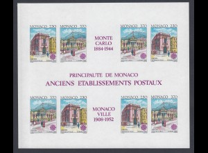 EUROPA CEPT Monaco Block 1990 postfrisch/** (MNH) UNGEZÄHNT/IMPERFORATED