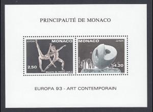 EUROPA CEPT Monaco MiNr. 2120/21 (1993) pfr/** (MNH) Sonderdruck/GEZÄHNT