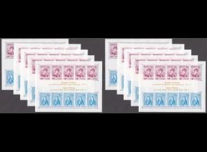 EUROPA CEPT Monaco Block 8 (1975) postfrisch/** (MNH) - 10 Stück - € 300