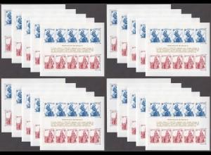 EUROPA CEPT Monaco Block 28 (1985) postfrisch/** (MNH) - 20 Stück - € 300