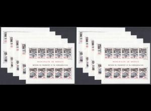 EUROPA CEPT Monaco Block 39 (1988) postfrisch/** (MNH) - 10 Stück - € 260