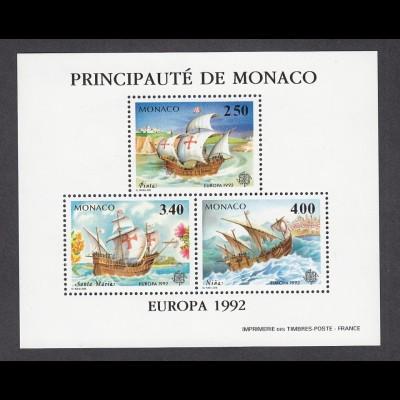 EUROPA CEPT Monaco 1992 Sonderdruck postfr./** (MNH) gezähnt - € 160