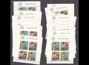 EUROPA CEPT Portugal Block 32 (1981) postfrisch/** (MNH) - 20 Stück - € 200