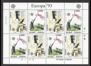 EUROPA CEPT Weißrussland 1993 KB/minisheet pfr/** (MNH)..
