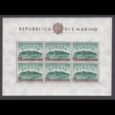 EUROPA CEPT San Marino 1961 KB/minisheet postfr./** (MNH) - € 200