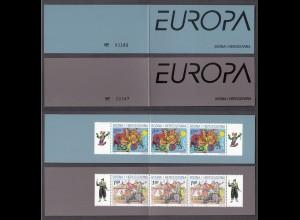 EUROPA CEPT BosnHerz.(Kroat.Post Mostar) 2002 MH booklets postfr./** (MNH)