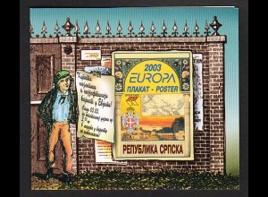 EUROPA CEPT BosnHerz.(Serb.Rep.) 2003 Markenh./booklet postfr./** (MNH) - € 70