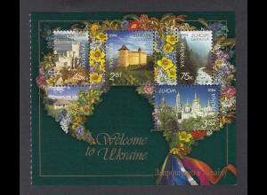 EUROPA CEPT Ukraine 2004 Markenheftchenblatt postfr./** (MNH) - € 95