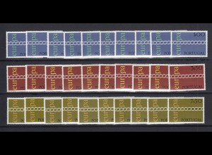 EUROPA CEPT Portugal 1971 postfrisch/** (MNH) - 10 Sätze - € 300