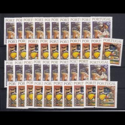 EUROPA CEPT Portugal 1979y (phosphor) postfrisch/** (MNH) - 20 Sätze - € 600.