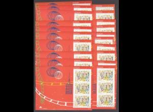 EUROPA CEPT Portugal Block 137 (1998) postfrisch/** (MNH) - 20 Stück - € 160