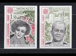 EUROPA CEPT Monaco 1980 postfrisch/** UNGEZÄHNT!!! - mint never hinged/imperfor.