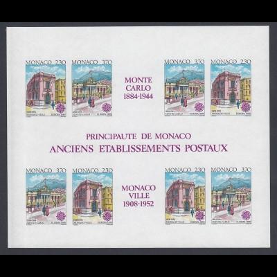 EUROPA CEPT Monaco Block 1990 postfrisch/** (MNH) UNGEZÄHNT/IMPERFORATED
