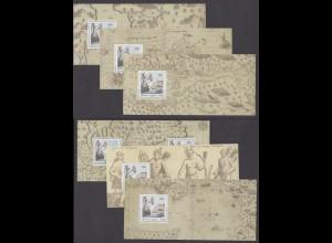 FRANKREICH Bl. 87-92 - 400 Jahre Quebec (2008) KB postfr./** (MNH)