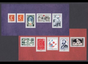 FRANKREICH Blocks Nr. 249/250 - 150 J. Rotes Kreuz (2014) postfr./** (NEUF/MNH )
