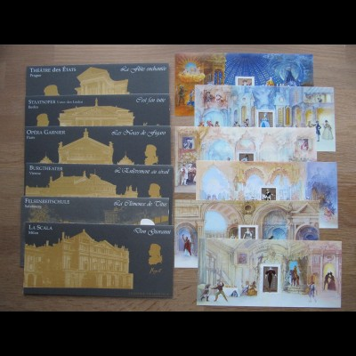 FRANKREICH Blocks Nr. 55/61 Wolfgang Amadeus Mozart (2006) postfrisch/** (MNH)