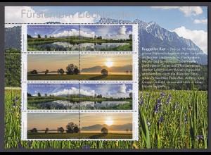 LIECHTENSTEIN MiNr. 1814/1817 (2016) Naturschutzgebiete KB postfrisch/**