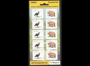 ÖSTERREICH MiNr. 2622/2623 Tierschutz Folienblatt (2006) postfrisch/**