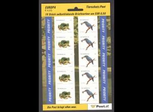 ÖSTERREICH MiNr. 2716/2717 Tierschutz Folienblatt (2008) postfrisch/**
