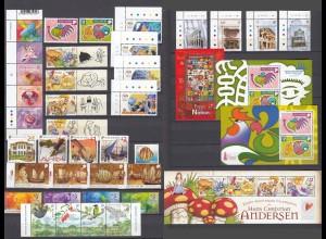 SINGAPUR Kompletter Jahrgang 2005 postfr/** - SINGAPORE Complete year set MNH/**
