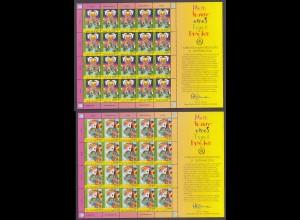 UNO WIEN MiNr. 451/452 (2005) Kleinbogen/minisheets postfrisch/** (MNH)